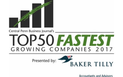 Mowery Named One of the Top 50 Fastest Growing Companies in Central PA