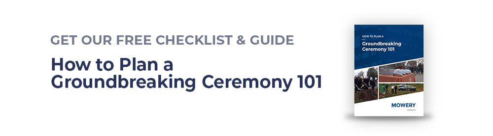 Download a free groundbreaking ceremony planning guide with checklists